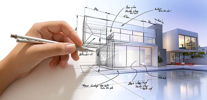Hand Drafting a Design of a Fully Customized Home