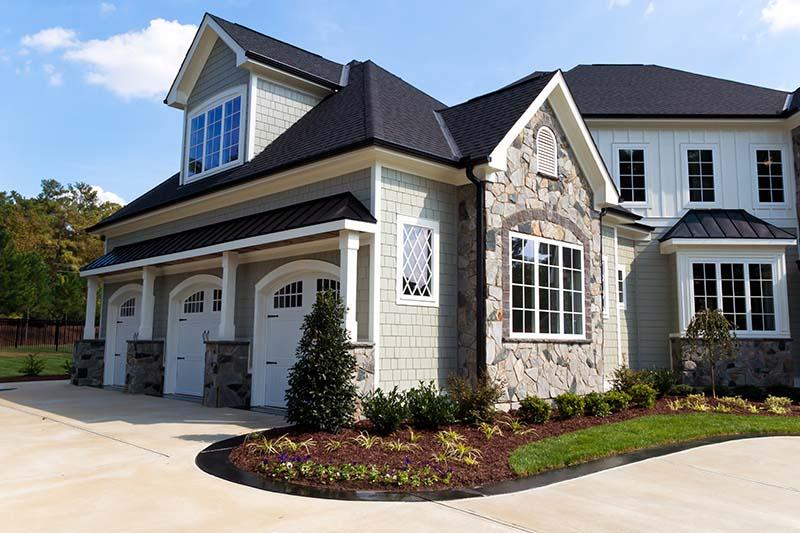 suburban house exterior car garage fully customized home