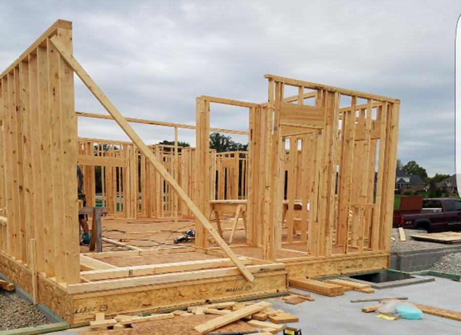 Strong Wood Home Frame Built by Enrique Hernandez Construction LLC