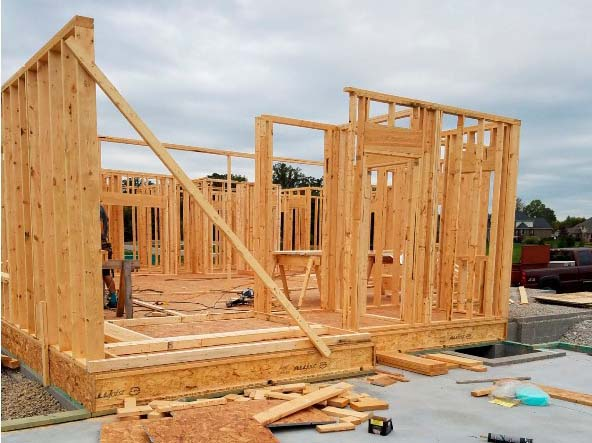 New Home Construction with Timber Framing