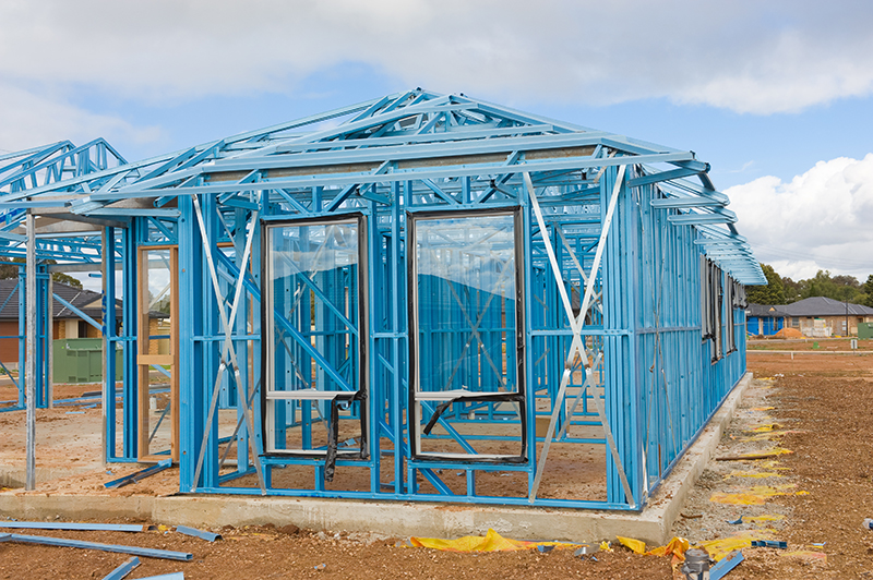 New Home Construction Using Steel Frames