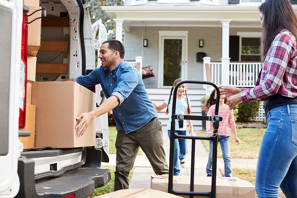 Family Moving into a House They Bought
