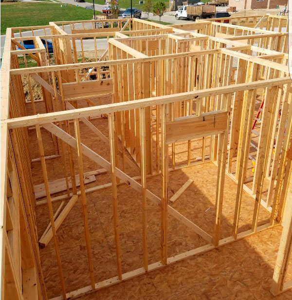 Building New Home with Wood Stud Framing